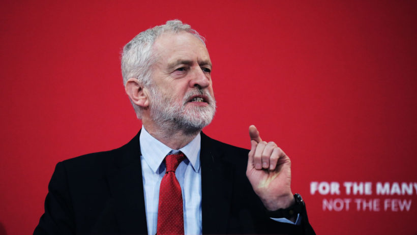 An image of Labour leader, Jeremy Corbyn